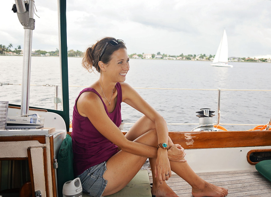 Jessica on St. Lucie River