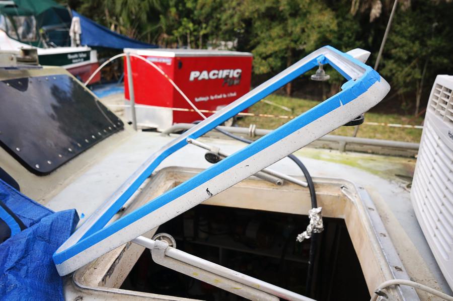 taping hatch frame