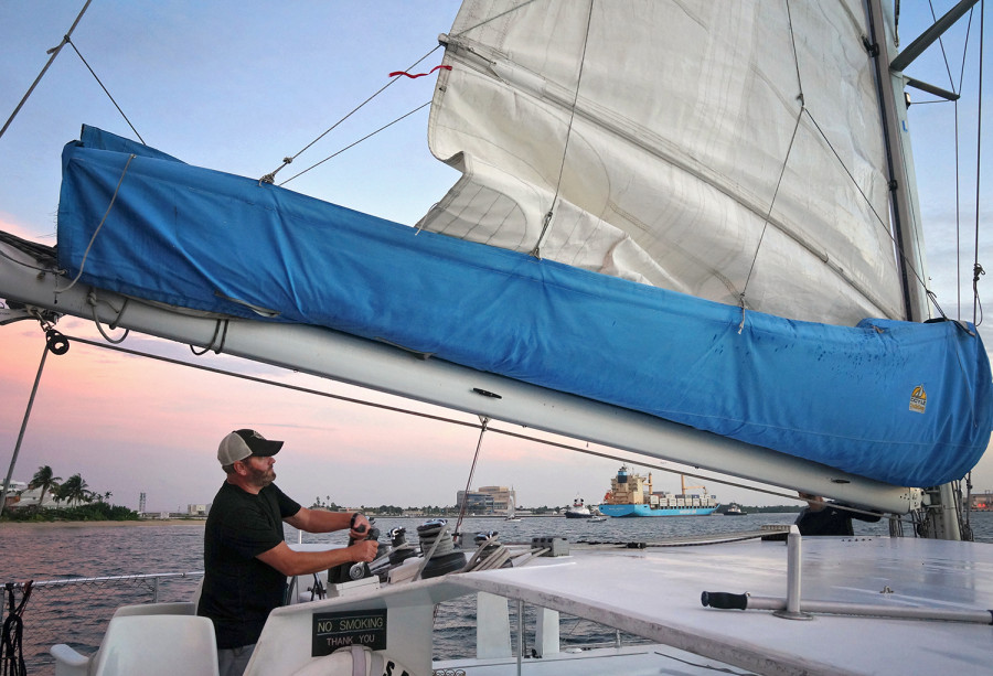 raising the mainsail