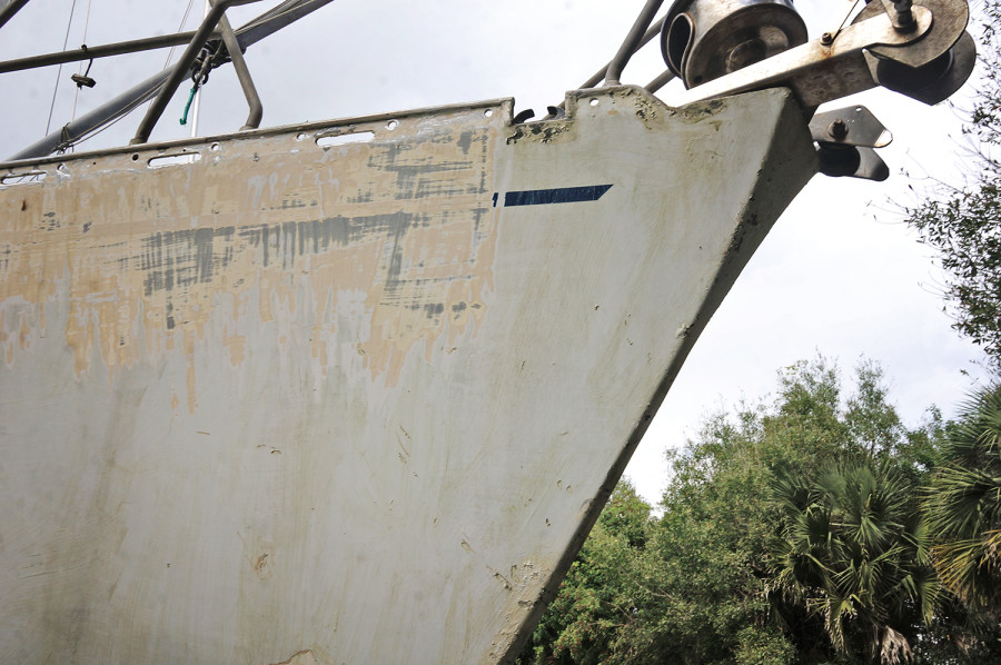 paint coming off hull