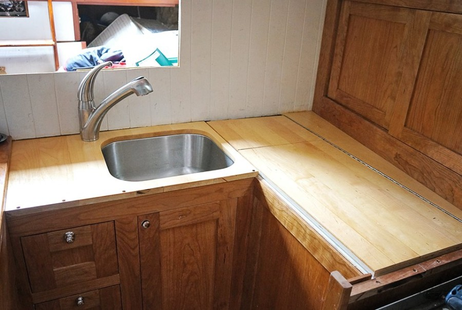 maple counter tops installed