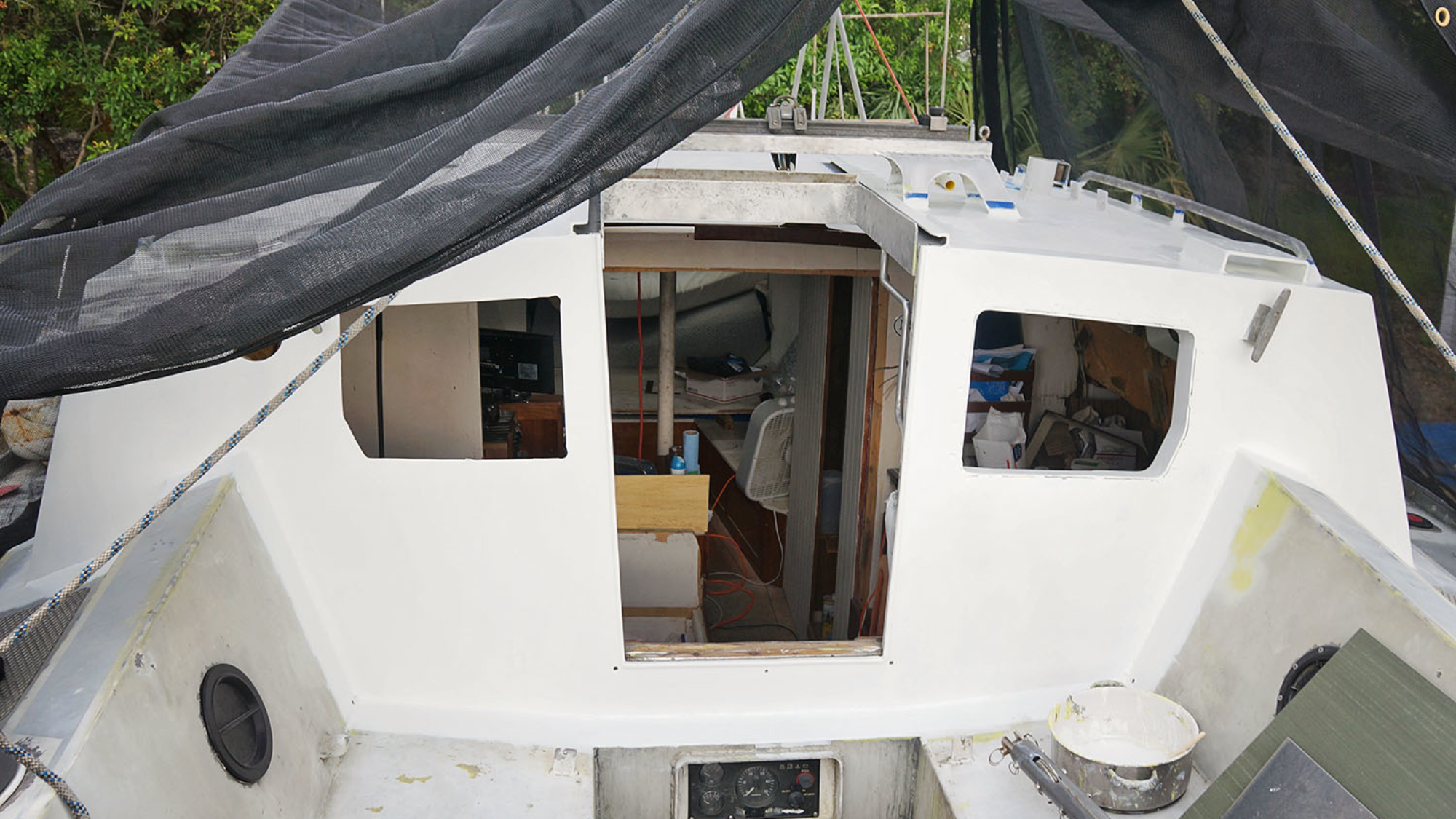 companionway barrier coated