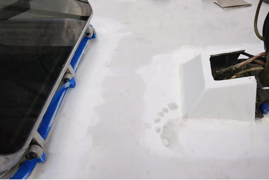 footprint in paint