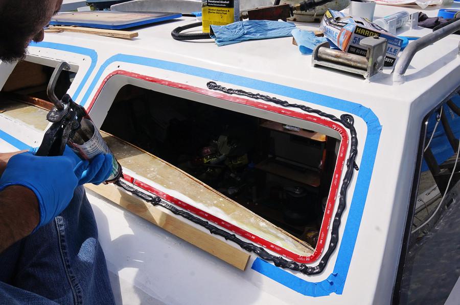 placing in plexi window