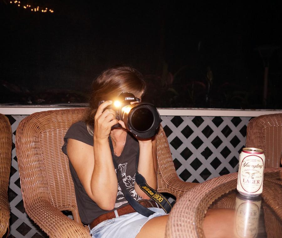 Cati with camera