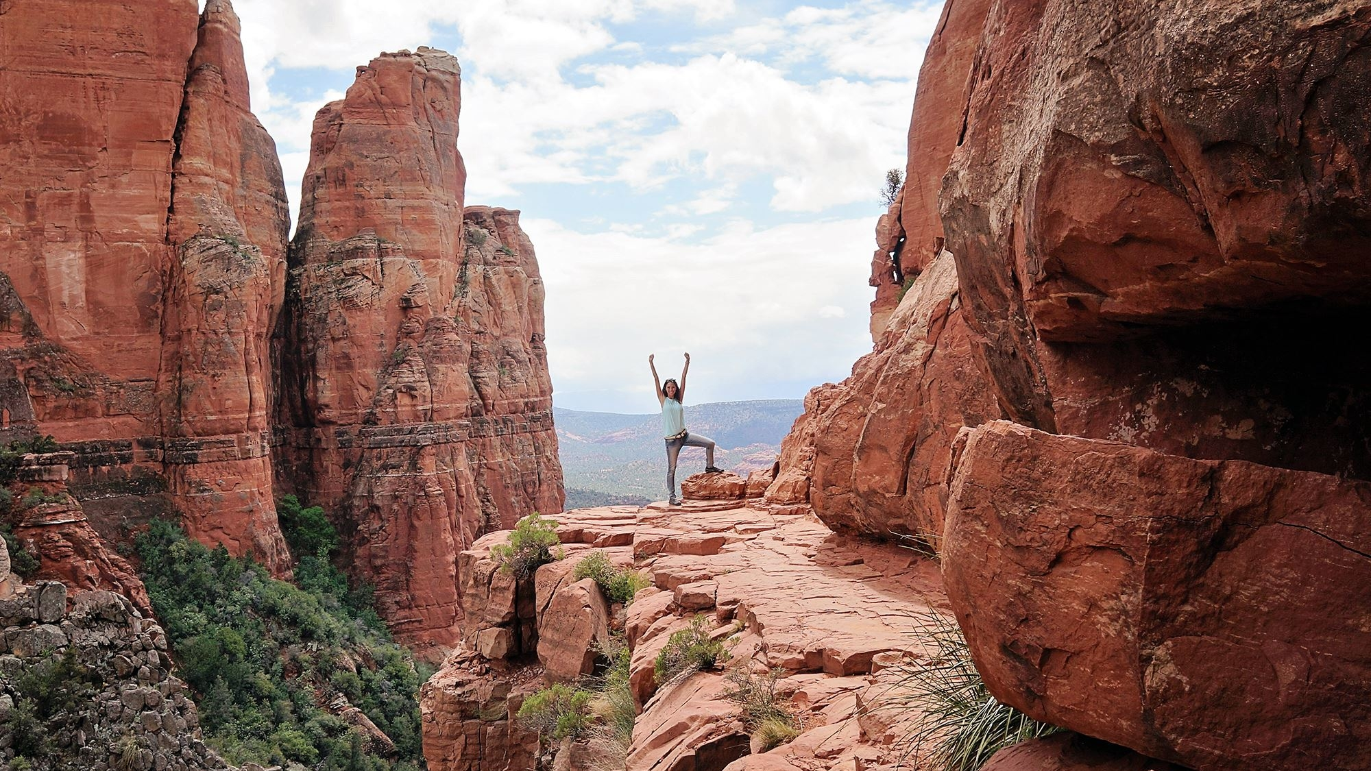 cliff atop Cathedral Rock