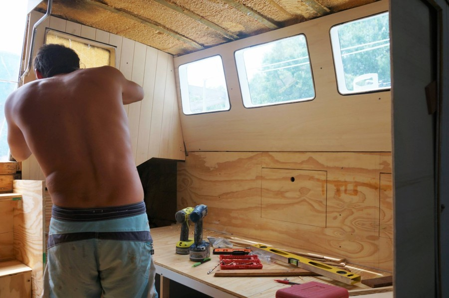 woodwork in the pilot house