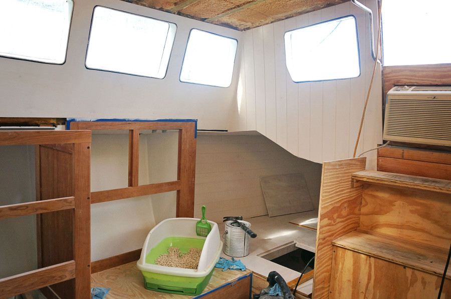 pilot house with primer
