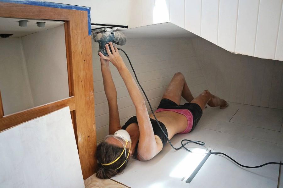 Jessica sanding quarter berth