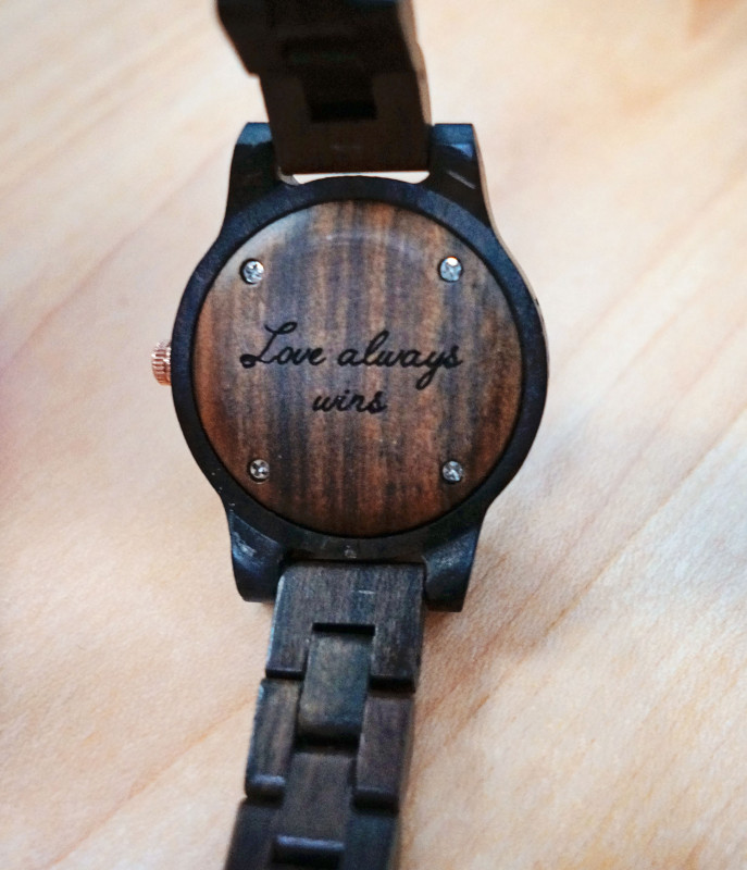 JORD wood watch engraving