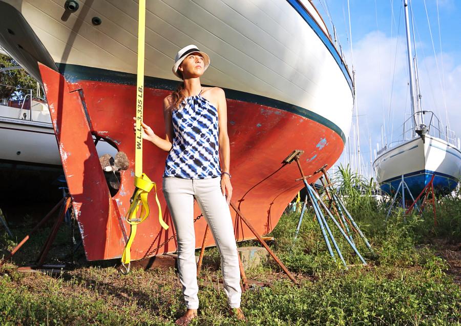 Vacay Style Ikat top and pants