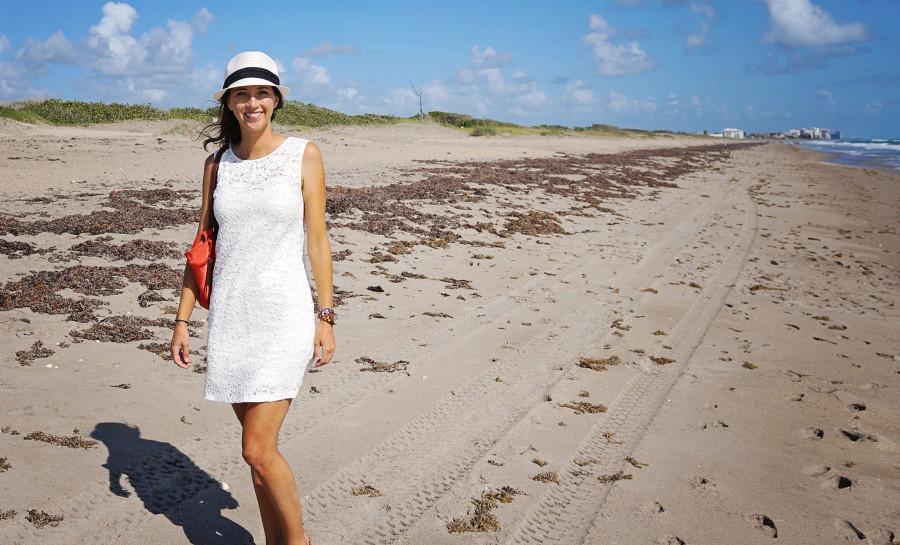 Vacay Style white lace dress