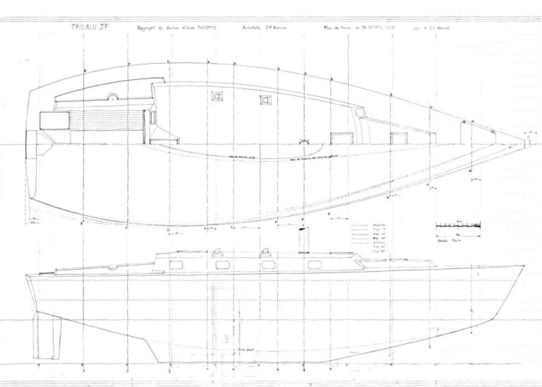 trisalu37 plans show hull shape